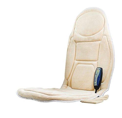 Medivon CF-2602w Massage-Sitzauflage, vibrierende Massagesitzauflage mit 5 Vibrationsmotoren, Auto Home Office Ganzkörper Rücken Hals Lendenwirbelmassage Stuhl Entspannung Pad Sitz Wärme(EU)