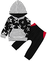 K-youth Ropa Bebe Nino Otoño Invierno 2018 Ofertas Ropa de Bautizo Estrella Rayas Infantil Recien Nacido Blusas Bebe Niña Manga Larga Camisetas Bebé Conjuntos Camisa + Pantalones