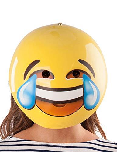 Generique - Smiley Maske für Erwachsene bunt 26x29cm