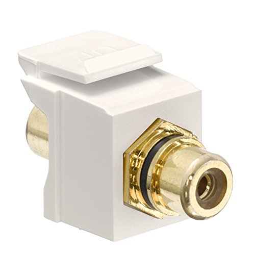 Snap In Rca Jack Light Almond W Black Leviton-snap-in
