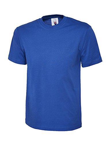 Einfach Klassische T-shirt Oberteil 100% Baumwolle Freizeit Freizeit Sport Works UC301 Royal