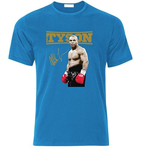 Tradebox Box Mike Tyson Boxing Fan Iron Mike t Shirt T-Shirt Weihnachtsgeschenk (L, Azure Blau) (Mike T-shirt Tyson Iron)
