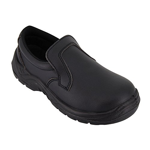 chaussure de cuisine noire chaussure de travail agro alimentaire noire avec coque de. Black Bedroom Furniture Sets. Home Design Ideas