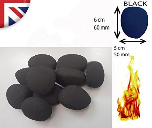 Schwarz/Beige/Weiß/Grau Ersatz Keramik Gas Fire/Gel Fire/Bio Fuel Fire Pebbles UK Hersteller - Kieselsteine Gas-kamin