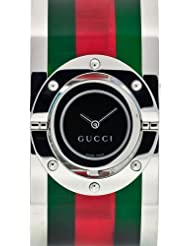 Gucci Damen-Armbanduhr TWIRL Analog Quarz Edelstahl YA112417