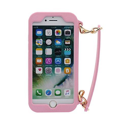 iPhone 7 Plus Copertura Protettiva Borsetta Forma Serie morbido Silicone Plastica Custodia Case per Apple iPhone 7 Plus 5.5 inch ( Nero ) rosa