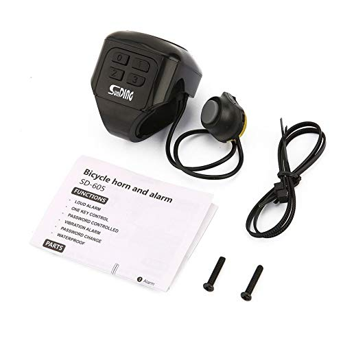 shuaishuang573 Lauter Ton Radfahren elektrisches Fahrrad Horn Passwort Bell-Alarm Anti-Diebstahl-Sperre -