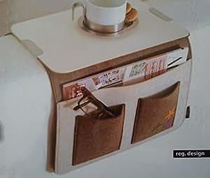 Sofa Butler Carry Mit 4 Taschen Ablageplatte Braun Weiss 201040202 He K Che Haushalt
