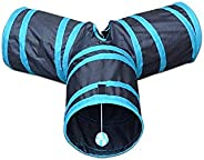 Mumoo Bear 3 Way Folding Hide and Seek Play Tunnel Toy For Pet Cat Puppy Kitty Kitten Rabbit