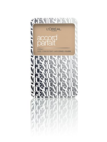 L'Oréal Paris A7882400 Accord Parfait Genius 4 in 1 Fondotinta Compatto 1.5N, Beige Ivoire