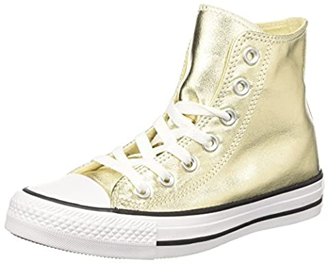 Converse Women's 153178c Hi-Top Trainers, Gold (Light Gold/White/Black), 6 (Converse Donna All Star Hi)