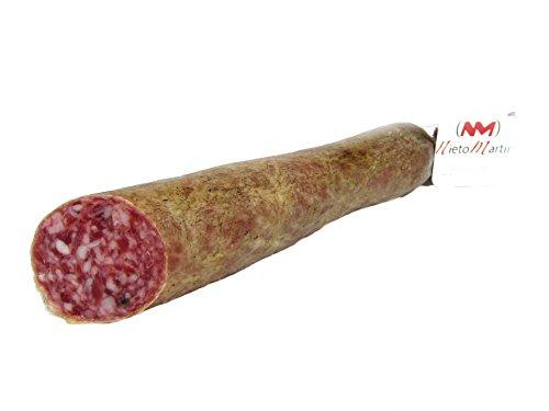 SALCHICHÓN CULAR Extracon IBERIAN Kassler IN BODEGA natürlichen und traditionellen MANUFACTURE Vakuumverpackt . 1 PART 500 gr