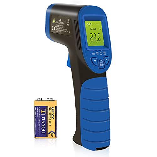Temperaturmessgerät infrarot-thermometer, Oritronic Laser thermometer digital Ofenthermometer Feuchtigkeitsmessgerät Thermometer Temperaturmesser -50 bis +380°C, LCD Beleuchtung