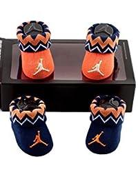 Nike Jordan Jumpman Newborn Infant 0-6 Months Navy & Orange Booties by Jordan