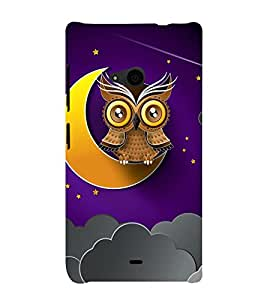 Clipart Owl Wallpaper 3D Hard Polycarbonate Designer Back Case Cover for Nokia Lumia 535 :: Microsoft Lumia 535
