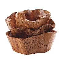 Sue-Supply Fruit Bowl Innovative Living Room Solid Wood Multi-grain Wooden Candy Dish Large Dried Fruit Plate Grid Wooden Root Carving Tray Wood Fruit Bowl Mixing Bowl