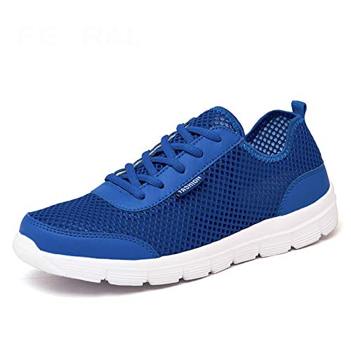 HOTSTREE 2019 New Unisex Shoes Comfortable Breathable Light Shoes Men & Woman Sneakers Plus Big Size 35~48 Blue 8 Barbara Heels