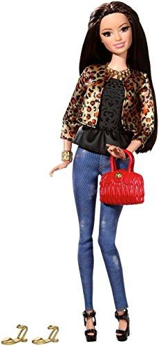 Mattel Barbie CFM77 - Deluxe-Moden Fashionistas Raquelle mit leoparden print Jacke -