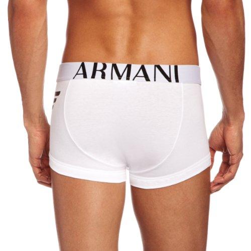 Emporio Armani Intimates Herren Boxershorts   - Schwarz - Black - Medium Weiß (White)