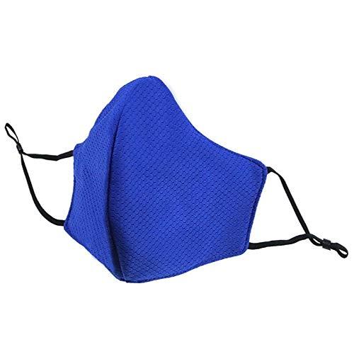 Mode Falten feine PM 2,5 Baumwolle Allergie Grippe Staubdicht Maske Mund Mode Sport Atmung Sommer Kohlefilter Maske (Color : 002BA3006, Size : ONE SIZE) -