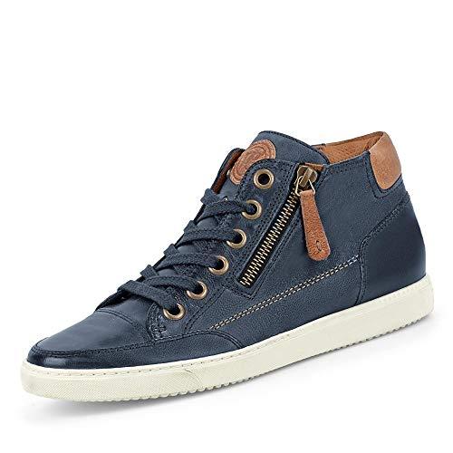Paul Green 4242-432 Damen Sneaker Elegante Lederinnenausstattung Sportive Sohle, Groesse 7 1/2, blau