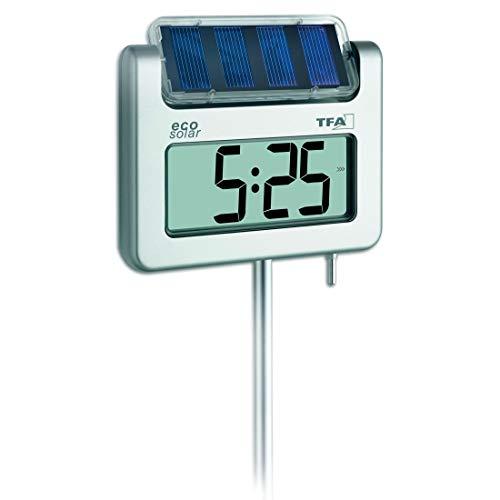 TFA Dostmann Avenue digitales Solar-Gartenthermometer, 30.2026, mit Lichtsensor