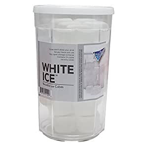 White Ice (TM) Reusable Ice Cubes for your Drinks 24 Cubes