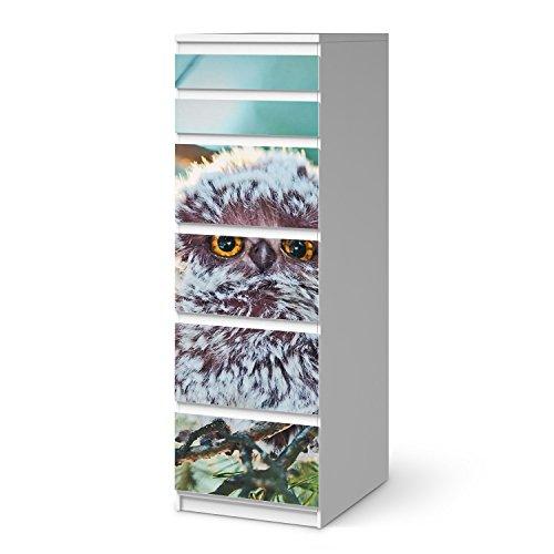 creatisto Möbel-Aufkleber Folie für IKEA Malm 6 Schubladen (schmal) I Sticker Kinder-Zimmer dekorieren I Wohnideen IKEA Möbel für Kinder-Zimmer Dekor I Kids Kinder Wuschel -