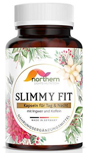 Slimmy Fit - Kapseln - mit Ingwer, Koffein und Grüntee - Monatspackung mit 60 Kapseln
