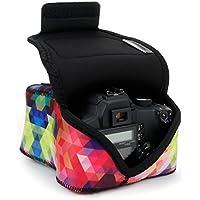 Funda de Cámara Digital   Estuche Semipermeable para Cámara Reflex Por USA Gear   Bolsa Protectora DSLR para Nikon D3300 D750 D5300 D5500 Canon EOS 1300D 100D 700D 750D Pentax K50, Accesorios y más