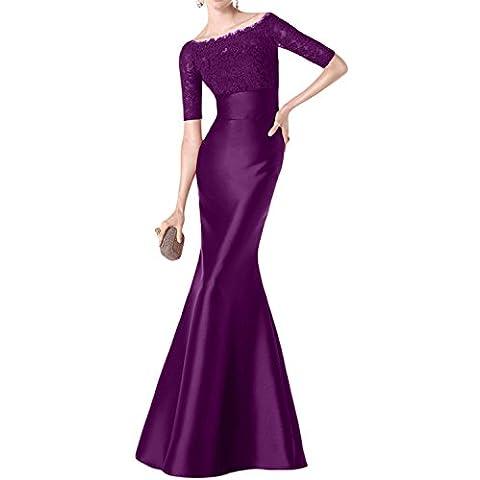 Toscana sposa Glamour Mermaid in raso con pizzo per abiti da sera madre abiti da festa abiti da sposa