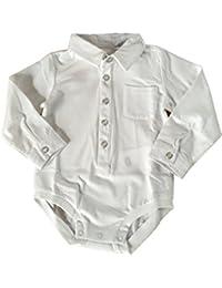 Chicco Jungen Body Taufe Weiß Hemd Hemdbody