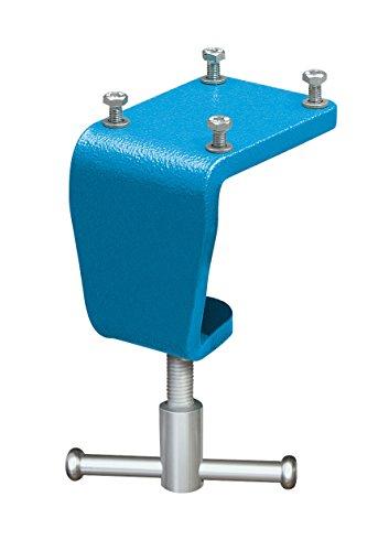 HEUER 119120 Tischklemme / Tischklammer | flexibles Befestigen von Schraubstock an Arbeitsplatte ohne Bohren, Platz sparend | Gewicht: 1,7 kg, Tischsstärke : 10 -60 mm