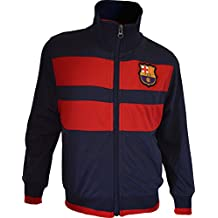 F.C. Barcelona - Sudadera con cremallera del F. C. Barcelona (colección oficial del F.C. Barcelona, talla de adulto), Hombre, azul marino, XXL
