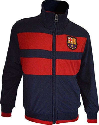 Trainingsjacke mit Reißverschluss Barça, offizielles Produkt von FC Barcelona, Erwachsenengröße, für Herren S marineblau - Mütze Messi Fc Offizielle Barcelona