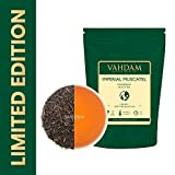 VAHDAM, Imperial Moscatello Darjeeling Tè (50 tazze) | Foglia sciolta del tè Darjeeling FULL-BODIED & AROMATIC | 100% PURE SECOND FLUSH Foglie di tè nero | Brew come tè caldo, tè freddo o latte 100gr