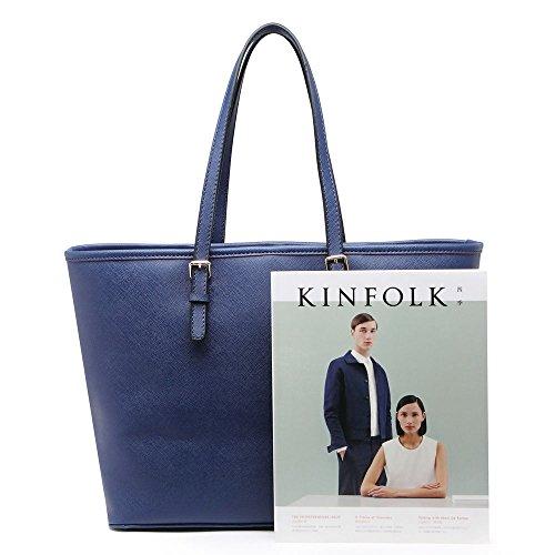 LeahWard Damenmode Desinger Qualität Shopper Bag Taschen Damen modisch meistverkauft Handtaschen Groß Größe Tasche CWS00297 Marine