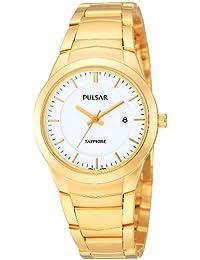 Pulsar Uhren PH7256X1 - Reloj analógico de cuarzo para mujer con correa de acero inoxidable, color dorado