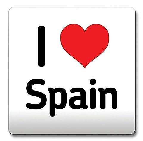 I Love Espagne Coaster coeur cadeau idée Noël café drôle