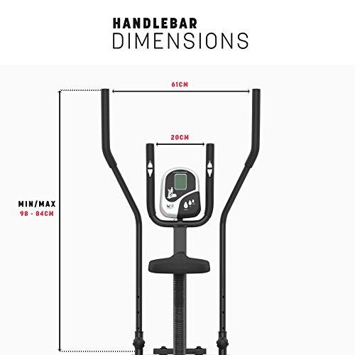 Deluxe 2-in-1 Crosstrainer, Hometrainer für Fitness, Cardio, Workout, mit Sattel - 4
