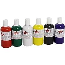 Scola FAB150/6/A Vernice per tessuti, colori assortiti, 6 x 150 ml