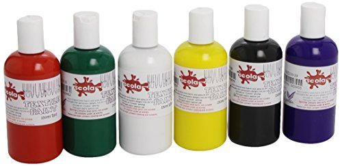 scola-6-x-150ml-textile-paint