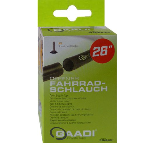 Gaadi Fahrrad Schlauch//20´´ 24´´ 26´´ 27,5´´ 28´´ alle Größen, Ausführung:26´´ 50/57-559 AV 40mm