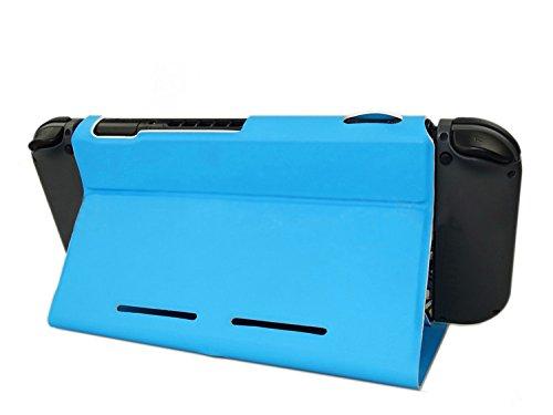 Preisvergleich Produktbild Nintendo Switch Schutzhülle, Hapurs 2 in 1 Light-Weight Premium Qualität PU Leder Flip Stand Case Cover für Nintendo Switch (blau)