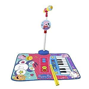 REIG- Alfombra Bateria y Piano Peppa Pig con Micro de pie y Baquetas, Multicolor (698010)