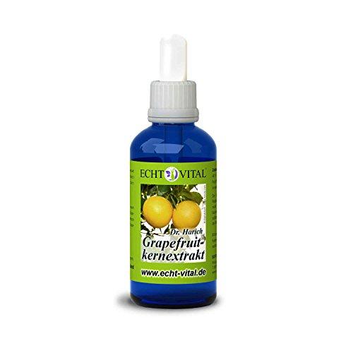 ECHT VITAL GRAPEFRUITKERNEXTRAKT - 1 Flasche mit 50 ml (Reines Glycerin)