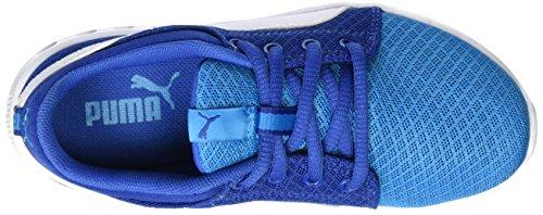 Puma Carson Runner 400 Mesh Ps, Sneakers Basses Mixte Enfant Bleu (Blue Danube-puma White 02)