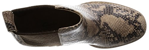Clarks Ladies Stivali Bassi Rubino Color Oro (sand Snake Leather)