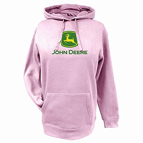 john-deere-sweat-a-capuche-femme-rose-rose-rose-x-large