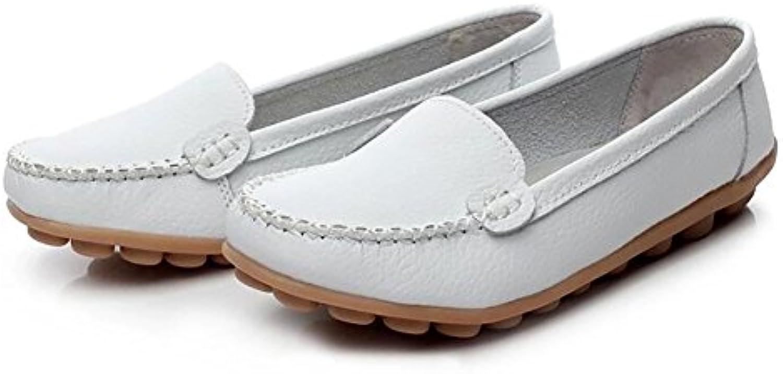 SHANGXIAN Décontractée Fond Mou Chaussures Aux Femmes Cuir Décontractée SHANGXIAN ApparteHommes t Chaussure Bateau,White,US7.5/EU38/UK5.5...B07DFLB2PTParent efb805
